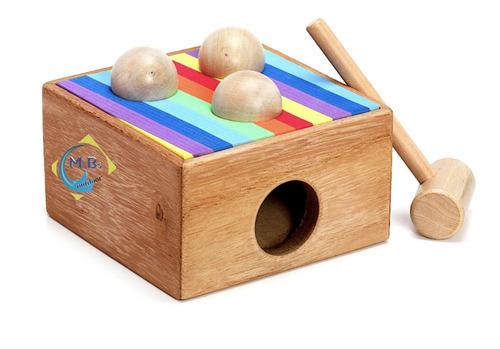 juguete didactico banco de descarga caja pelotera niño