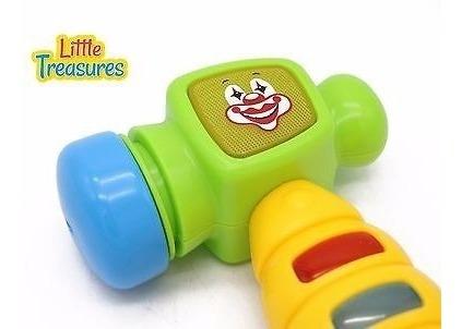 juguete didáctico bebé martillo con luces y sonidos