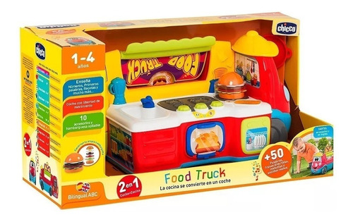 juguete didactico camion food truck cocina bilingue chicco