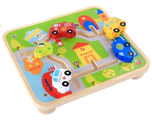 juguete didáctico carros transporte rompecabezas montessori