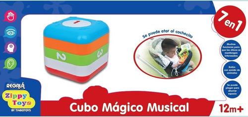 juguete didáctico cubo magico musical 7 en 1 zippy toys