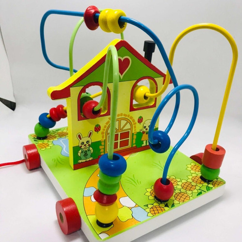juguete didactico educativo laberinto casita carrito mnr