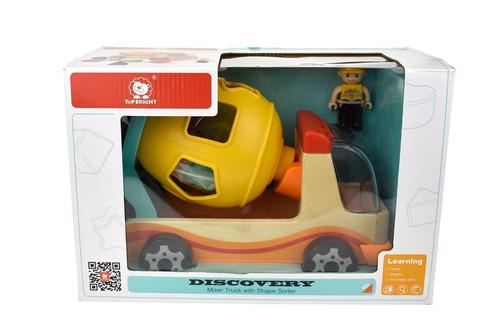 juguete didactico encastre de madera mezclador con encastre