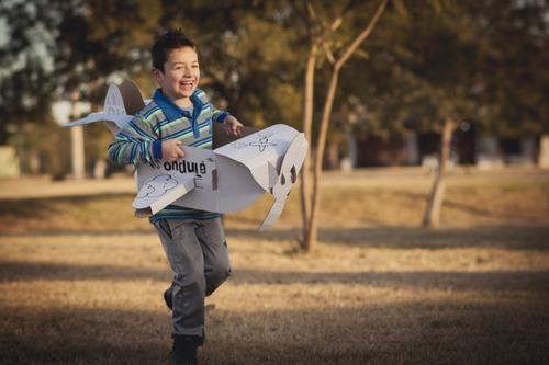juguete didactico niños avión gigante + stickers + colores