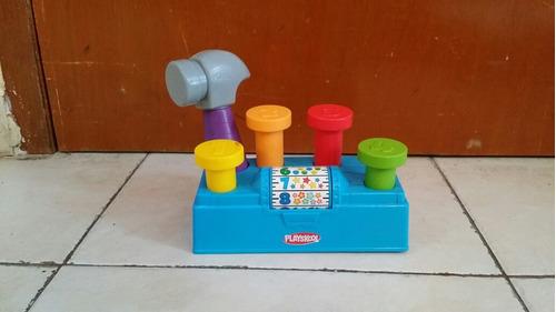 juguete didactico para bebes playscool clavos y martillo