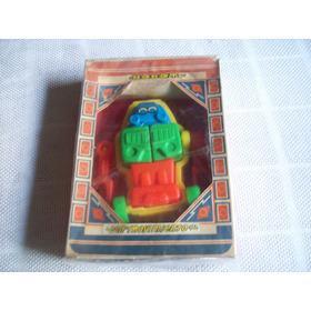 Juguete Didactico Vintage Argentino . Revirplas . Robot