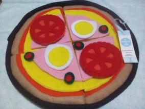 Para Armar Comidas Niños Tela Didacticos Juguete Pizza En gf6yI7Ybv
