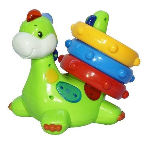 juguete dinosaurio encastre musical sensor luz sonido