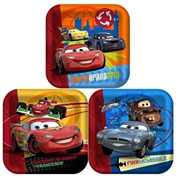 juguete disney cars 2 - cena plaza partido placas de acceso