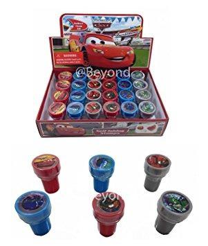 juguete disney cars auto-entintado sellos favores de la fie