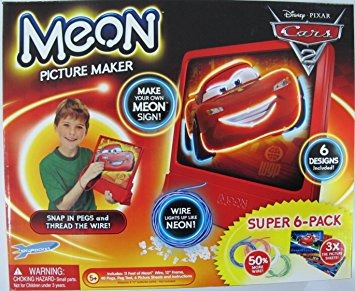 juguete disney cars meon picture maker con super 6 pack