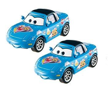 juguete disney / pixar cars dinoco mia y dinoco tia vehícul