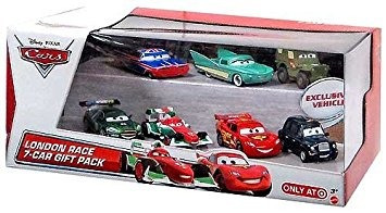juguete disney pixar cars london race car 7 paquete de rega