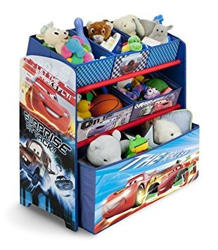 juguete disney pixar cars multi-bin toy organizador