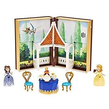 juguete disney sofía jardín de té libro set de juegos con l