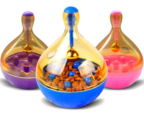 juguete dispensador de comida para gatos shaking q pet