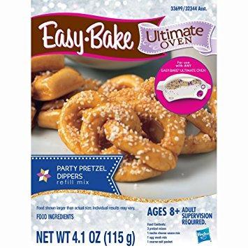 juguete easy-bake partido horno último pretzels paquete de