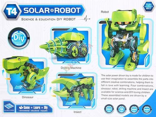 juguete educativo 4 en 1 robot solar
