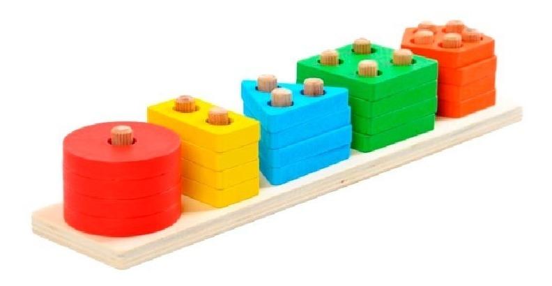 Juguete Educativo, Figuras Geométricas Montessori