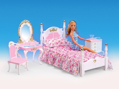juguete el dormitorio gloria muebles muñecas 29cm full