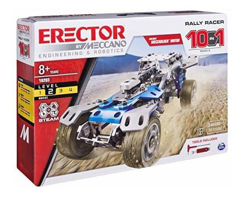 juguete erector by meccano rally racer 10-in-1 building kit,