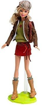 juguete fashion fever barbie -profunda naranja corta falda