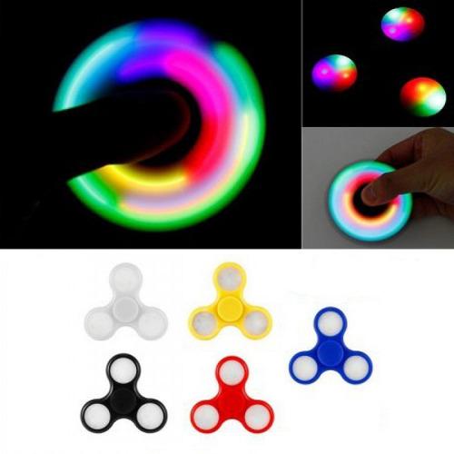 juguete fidget spinner led anti estrés spiner luces