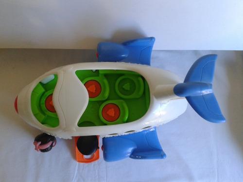 juguete fisher price avión con dos pasajeros