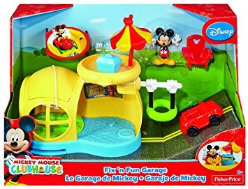 juguete fisher-price casa de mickey mouse fix 'n fun garaje