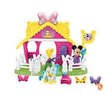 juguete fisher-price disney minnie jump 'n style pony stabl
