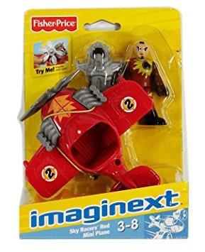 juguete fisher price imaginext sky racers mini rojo plano 3