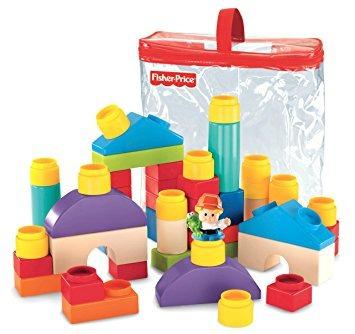 juguete fisher-price little people builders formas clásicas