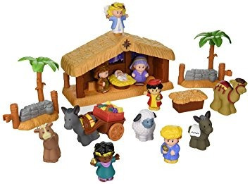 juguete fisher-price little people historias de navidad