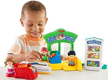 juguete fisher-price little people one stop shop grocery