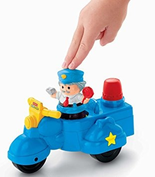 juguete fisher price little people policía vespa