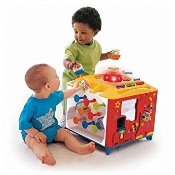 juguete fisher price ojeada de un bloque incrediblock