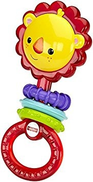 juguete fisher-price rattle, león