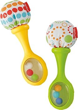 juguete fisher-price rattle y rock juguete musical maracas