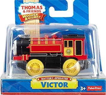 juguete fisher-price thomas victor a pila de madera del tre