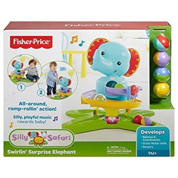 juguete fisher-price tonto safari swirlin 'sorpresa elefant