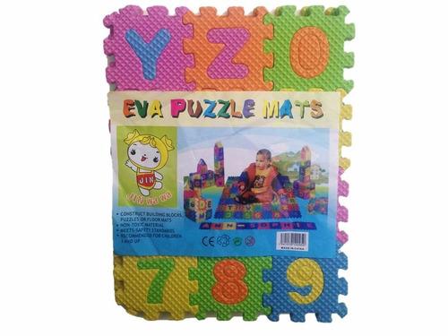 juguete foami didáctico letras números 18x13cm 36 piezas