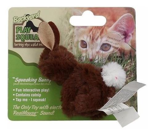 juguete gatos conejo play n squeak backyard bunny