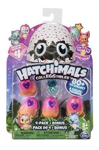 juguete hatchimals figura con 4 huevitos colección+cuota