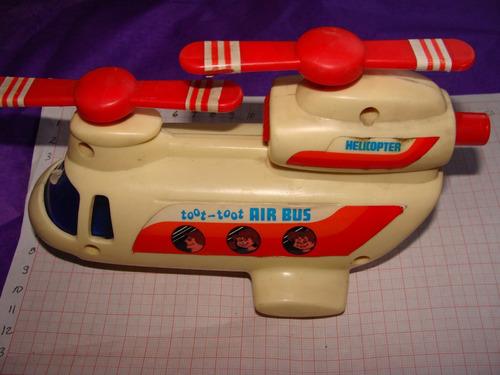 juguete ,helicoptero toot toot air bus como de los 80s, marc