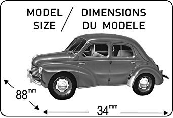 juguete heller renault 4 cv kit car model building (21 piez