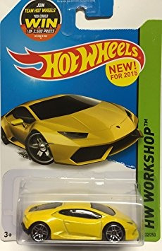 juguete hot wheels, 2015 hw taller, lamborghini lp 610-4 hu