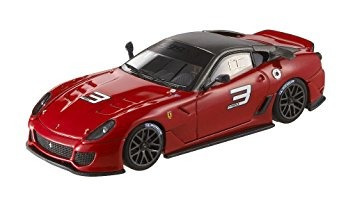 juguete hot wheels elite ferrari 599xx escala 1 43a - rojo