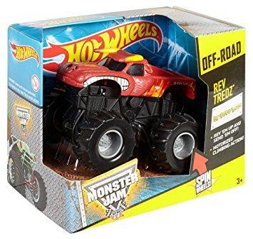 juguete hot wheels monster jam vehículo rev tredz el toro l