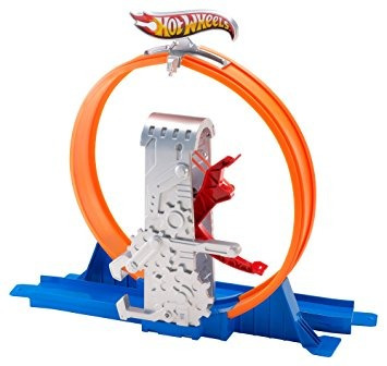 juguete hot wheels pista constructor deluxe retroceso de bu