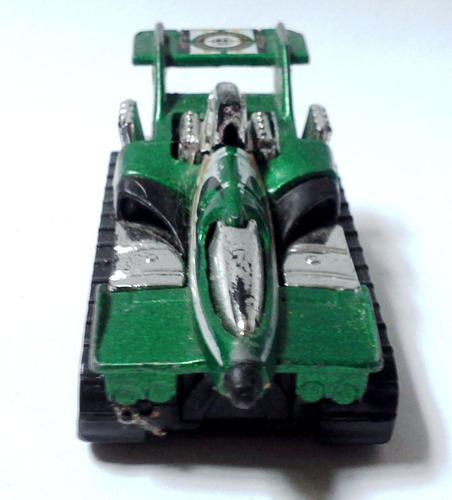 juguete hotwheels mattel 1992 tanque cohete verde botella